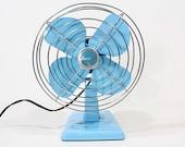 Refurbished Eskimo Vintage Blue Electric Fan