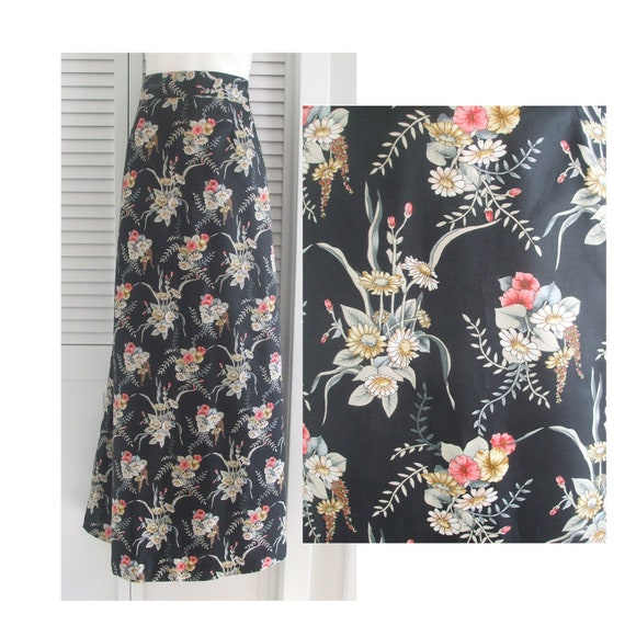 60s Floral Maxi Skirt