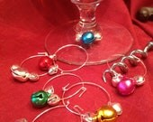 Jingle Bell Wine Charms - Set of Seven