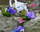 Wonderland Centerpiece - Mossy Fairy Garden