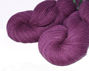 Yarnhill Superwash Fingerling Grape Yarn - 100 grams