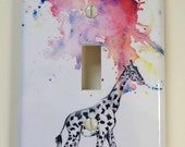Giraffe Decorative Light Switch Cover Great Giraffe room decor for kids and baby nursery decor art