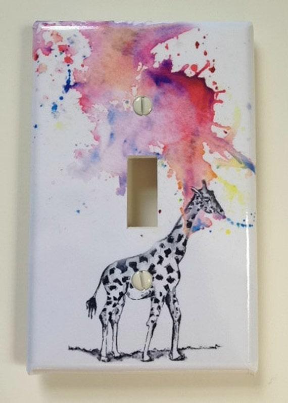 Giraffe Decorative Light Switch Cover Great Giraffe room decor for kids and baby nursery decor art