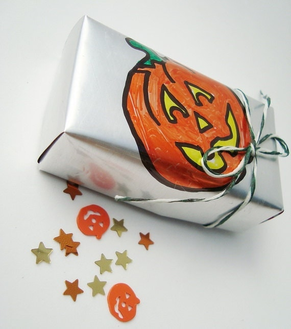 Pumpkin Decor Halloween Soda Can Gift Box Recycled Eco Friendly  Repurposed Recycled Jack O Lantern Pumpkin