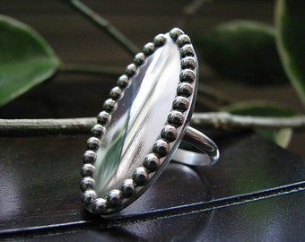 Large Sterling Silver Statement Ring