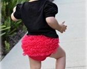 Chiffon Ruffle Bum Baby Bloomer  diaper cover-Photo Prop- Choose One- 20 colors to choose from-