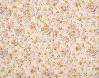 Quilt Gate Fabric Classic 15D Cotton Floral Fabric Yellow Purple