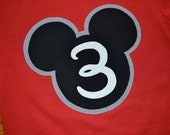 Personalized Mickey Mouse Shirt or Onesie with Name and Number