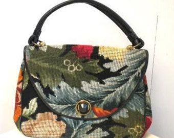 Vintage Embroidered Carpet Autumn Handbag by JACLYN