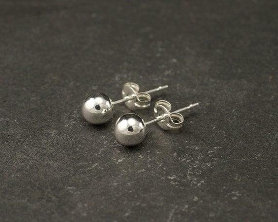 silver stud earrings silver studs silver