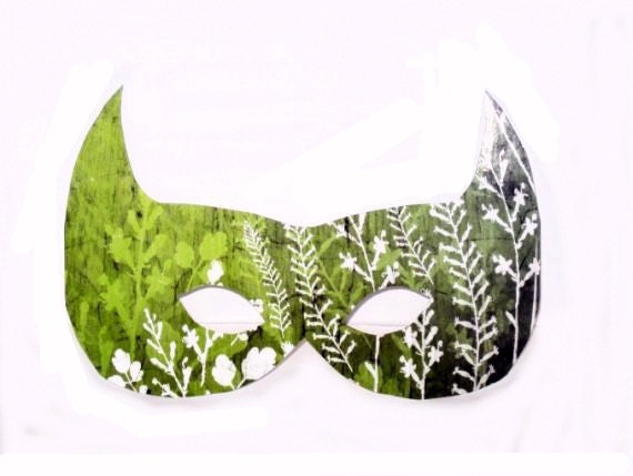 Costume Paper Mask no.1 Paper Cut Outs Scrapbooking Embellishment