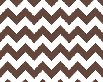 SALE - Riley Blake - Medium Chevron in Brown
