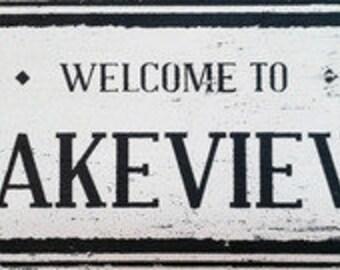 Lakeview Neighborhood Sign 7x12