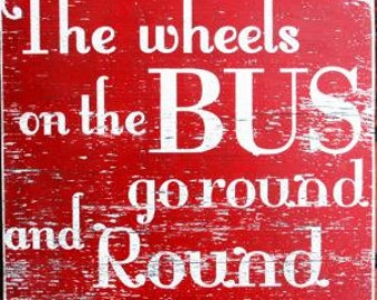 The Wheels on the Bus 17 x 18