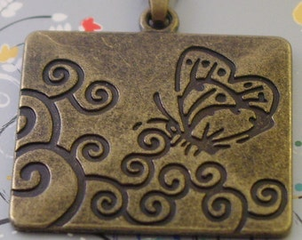 Pewter butterfly pendant