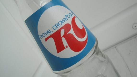 Items Similar To Vintage RC Cola Glass Bottles 16 Oz