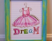 Dream 8x10 print, posh pencils collection