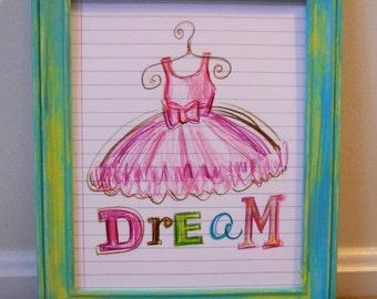 Dream 8x10 print, posh pencils collection
