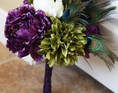 Peacock Perfection Bridal Bouquet