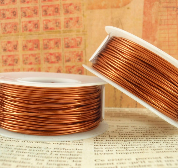 Spring SALE 22 gauge Amber Wire - Large 100 Foot Coil - 30.5 Meters Enameled Coated Copper - 100% Guarantee