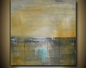 RESERVED FOR WENDY Large Modern Contemporary Art Soft Burnt Amber and Gray Square Abstract Painting 36x36  Sky Whitman