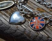 Left My Heart in London Charm Bracelet
