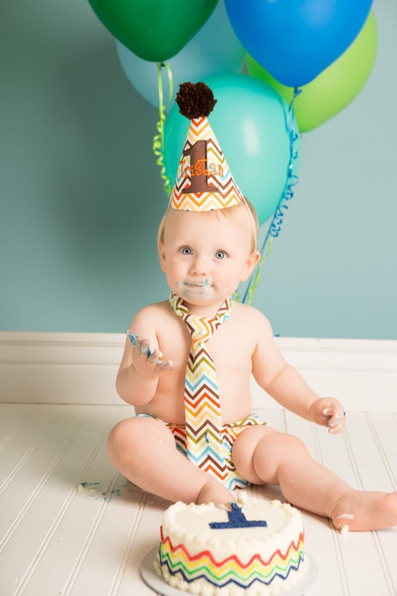 Items Similar To Baby Boy First Birthday Cake Smash Set