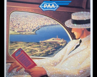 Glittered Havana Travel Poster