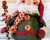 PATTERN - Dear Santa - Cute Christmas cloth doll PATTERN - Annie Smith Designs