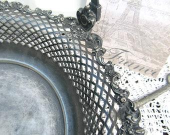 Antique Eureka Silver Co. Quad Plated Bride's Basket Silver Tray SALE