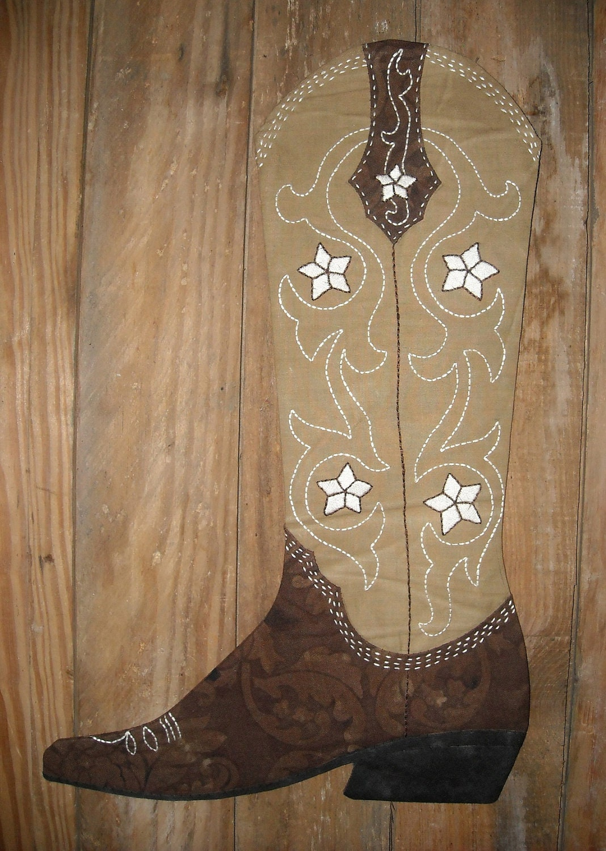 Cowboy Boot Christmas Stocking Pattern 2012 PDF version