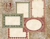 Victorian Vintage Christmas Labels Sepia  Printable Digital Download