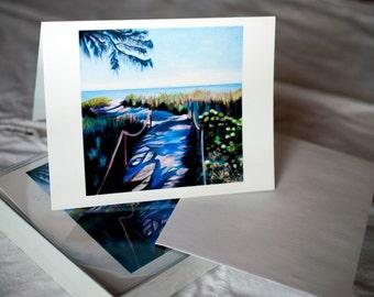 Blank Note Cards - Camino al Mar