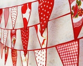 Oilcloth Red Apple dots and checks  Check out our gorgeous trim work  Ready to Ship