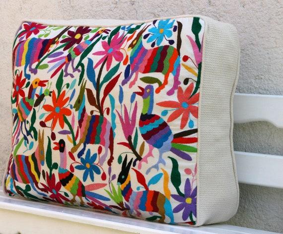 Multicolored Otomi Pouf