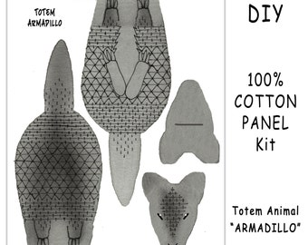 DIY Kit - TOTEM ARMADILLO - Toy Animals for Nature Table, Play or Collecting - Free Shipping Continental United States