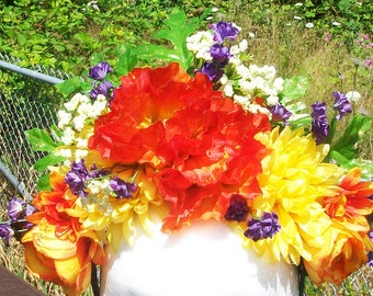 Summer's Song - floral crown headpiece, fairy, festival