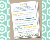 I Spy Wedding Game - Custom Colors - Flowers