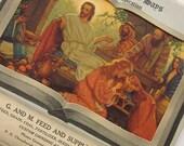 Vintage Ephemera 1954 Religious Calendar