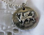 Welsh Dragon wax seal pendant