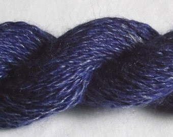 Denim Blue Jeans Handspun Yarn - 100% Merino Wool Yarn - 77 yds, Sport