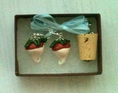 Radish Earrings and Cork Necklace Set Costume Halloween