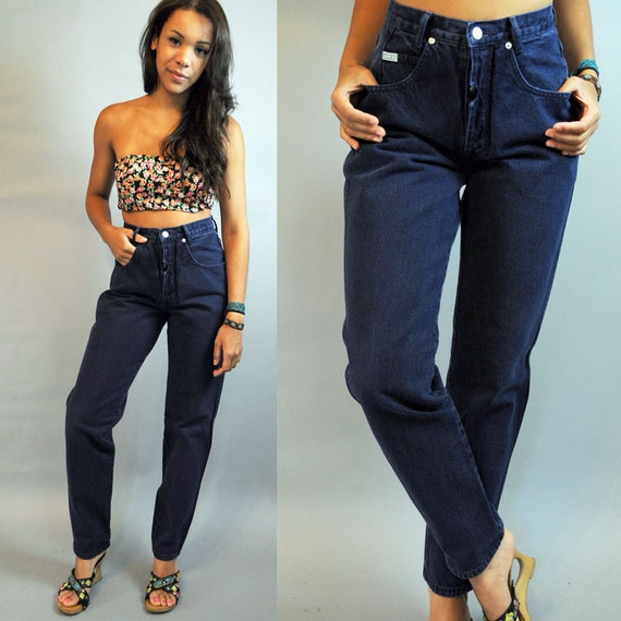 Vintage 80s HIGH waisted JEANS / Womens Guess Indigo wash
