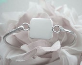 Engravable Square Child Baby Bangle