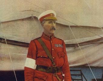 1900, LIEUT.-GEN, Sir William Gatacre, Large Antique Print, Army 13, South Africa Field Service, Uniform, Moustache, Commander