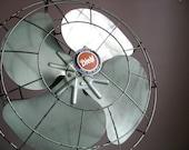 Industrial Chic.  Pale Mint Green Diehl Fan.