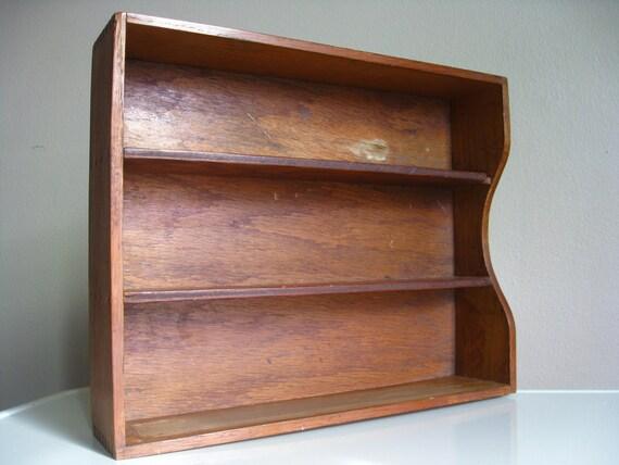 Vintage Dovetailed Wooden Drawer Organizer.