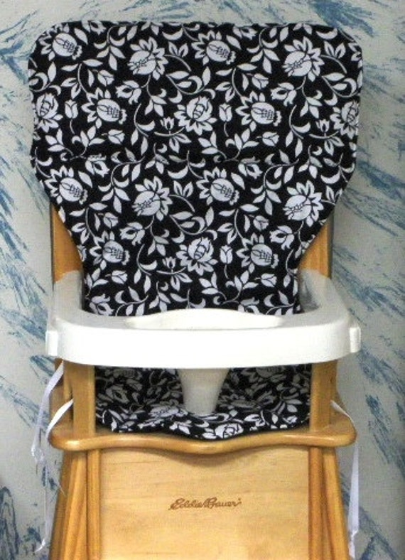 Eddie Bauer High Chair Cover Replacement Pad Black By