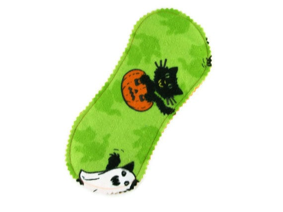Little Peanut Panty Liner in Cats on Halloween - Reusable Cloth Liner