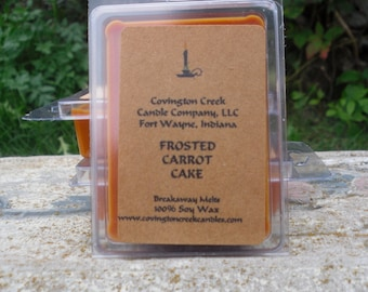 Frosted Carrot Cake  Breakaway Melt Pure Soy Covington Creek Candle Company, scentsy warmer